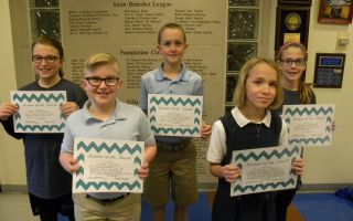 Students of the Month Grades 4, 5 & 6